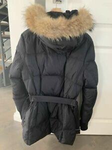 100/% Echt Fuchs Pelz Jacke Damen 90/% Daunen Daunenjacke Mantel 4Sz Warm Parkas