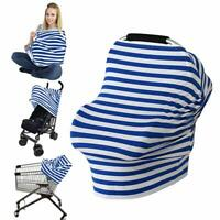 LOAZRE Nursing Cover Breastfeeding Cover Baby Car Seat Cover Blue NWT!