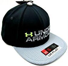 Under Armour Boys  Youth Snapback Cap Hat OSFA Flat Fit Black Gray - NWT c9df9f70d06c