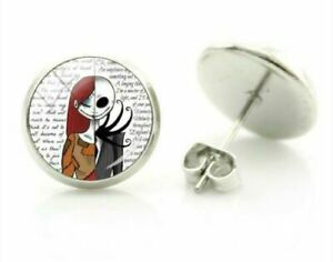 Nightmare Before Christmas  Jack and  Sally // Jack  Stud Earrings 2 To Choose