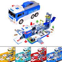 Deformation Fire Truck Police Car Engineering Vehicle Children Kids Toy Christma