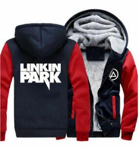 Newest linkin park fans Hooded hoodies sweatshirt warm fleece coat jacket