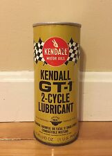 Vintage KENDALL Gas Station Motor Oil GT-1 2-Cycle Lubricant 16oz Can Unused