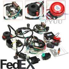 ATV Full Electrics Wiring Harness CDI&Remote Start Switch For 50/70/110cc/125cc