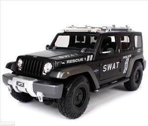 Maisto 1:18 JEEP Rescue Concept SWAT Police Diecast Model SUV Car NEW IN BOX