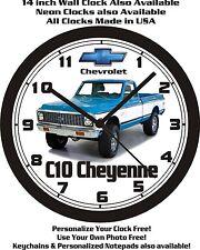1972 CHEVROLET C10 CHEYENNE SUPER PICKUP WALL CLOCK-FREE USA SHIP!