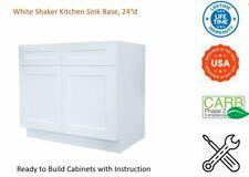 White Shaker Kitchen Sink Base Cabinet