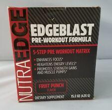 NutraEdge EdgeBlast Pre Workout Formula Focus Energy Strength Fruit Punch 435g