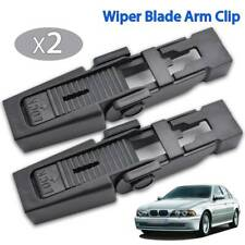 2x Front Wiper Blade Arm Lock Clip For BMW 5 E39 Audi A4 B6 Peugeot 607 Saloon