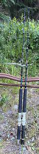 """Lot Of 2 Lamiglas Saltwater Deep Sea Fishing Rods 4'6"""" 50-100lb BFC 4610 Issues"""
