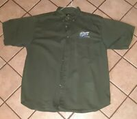 OLD La Crosse City Light Brewery XL beer COLLAR BUTTON DOWN EMPLOYEE PROMO SHIRT