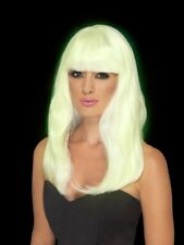 Glam Glow in The Dark Costume Party Wig Blonde by Smiffys