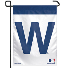 CHICAGO CUBS WIN W ~ Official MLB 11x15 Garden Flag Banner ~ New!