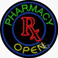 "NEW ""PHARMACY OPEN"" LOGO 26x26 SOLID/ANIMATED LED SIGN w/CUSTOM OPTIONS 21333"