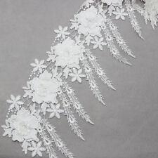 2Yd Off-White Tassel Lace Trim Bridal Wedding Dress Ribbon Trimming Sewing Craft