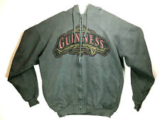 Guinness Official Merchandise LG Gray Hoodie Full Zip Hooded Sweatshirt EUC