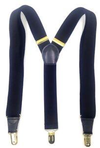 $75 Club Room New Mens Solid Black Elastic Braces Clip-End Adjustable Suspenders
