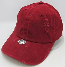 Burgundy Unconstructed Color Dyed Distressed Cap Dad Painter Hat Adjustable NWT