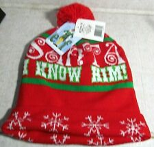 "Nwt Elf Movie ""Santa I Know Him"" Knitted Winter Ski Stocking Hat"