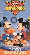 MICKEY'S CHRISTMAS CAROL (VHS) Walt Disney Mini Classics