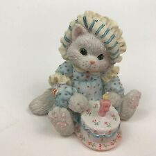 Calico Kittens Sew Happy It's Your Birthday Cat with Cake Candle 625965 Gift