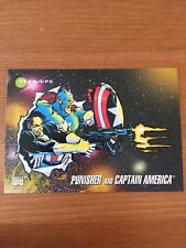 1992 Marvel Universe 3 III #94 Punisher and Captain America Trading Card