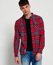 Superdry refined Lumberjack L S Shirt camisas manga larga L-penley Check red