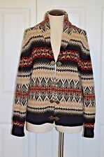 Susan Bristol Wool Sweater Jacket Women's Size M Southwestern Pattern