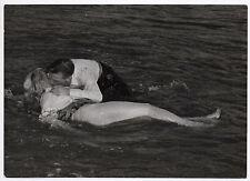 Photo ancienne Paul Louis Embrasser Couple Film Bisous Baiser Acteurs