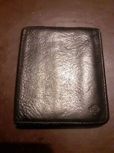 MULBERRY Men's Tri-Fold Black Leather Wallet