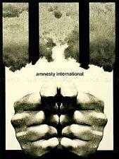 ADVERTISING CHARITY AMNESTY INTERNATIONAL PRISON BARS ART POSTER PRINT LV576