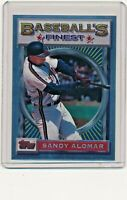 1993 Topps Finest #26 Sandy Alomar, Jr. Cleveland Indians Baseball Card