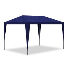 Blue Small Gazebo Party Tent Outdoor Garden BBQ Barbecue Parties Backyard 3x3