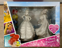 Disney Princess Paint Your Own Statue 12 Colors Belle & Ariel