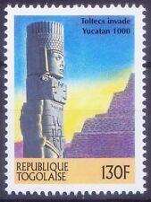 Toltecs Invade Yucatan, History, Atlantes statues Mexico, Togolaise 2000 MNH Mil
