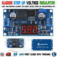 XL6009 LED DC-DC 4.5-32V to 5-35V Voltage Step Up Adjustable Boost Voltmeter USA