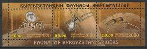 Kyrgyzstan 2020 Spiders MNH Block