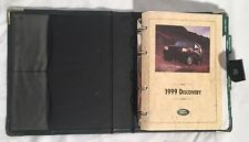 1999 RANGE ROVER Discovery Genuine OEM Owner's Manual Leather Binder Used Part