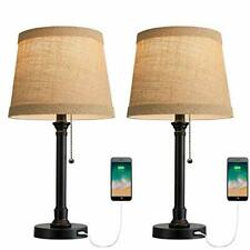 Table Lamps Set of 2 USB for Living Room Bedroom Office...