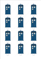 Novelty Doctor Who Tardis Edible Fairy Cake Cupcake Toppers Decorations Birthday