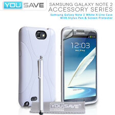 Accessories For The Samsung Galaxy Note 2 N7100 White X-Line Silicone Case Cover
