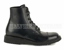 PRADA MENS ANKLE BOOTS BLACK LEATHER LACEUP LOGO DETAIL sz 6/ 7US / 40 IT