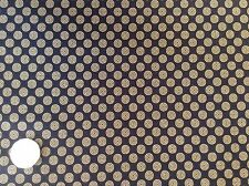Moda Together Circles Black Cotton Quilting Fabric FQ 50cm x 54cm