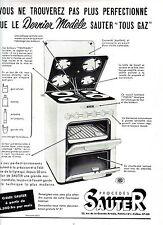 PUBLICITE ADVERTISING 034 1954 SAUTER  gazinière tous gaz
