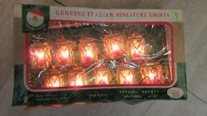 Christmas Tree Genuine Italian Miniature String Lights Gold Lanterns Kurt Adler