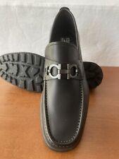 NIB Salvatore Ferragamo David Black Loafers 10.5EE