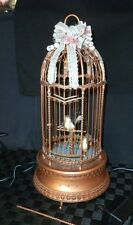 "Enesco ""The Gilded Bird Cage""  Multi-Action Music Box Plays ""The Edelweiss"""
