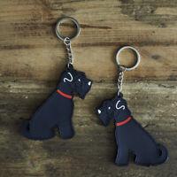 Cute SCHNAUZER Dog Keyring, Novelty Gift, PVC Key Ring,  Bag Charm,