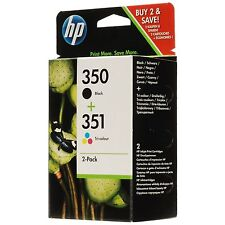 Original HP 350 351 Black & Colour Combo for HP Photosmart C5200 SD412EE J6400