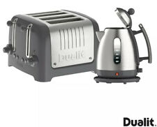 Dualit Lite Kettle & 4 Slot Toaster Set Grey 10126 - next day delivery
